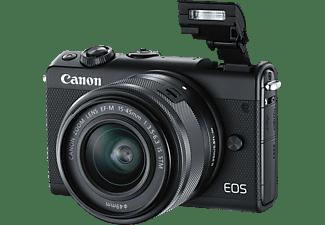 Cámara EVIL - Canon EOS M100, CMOS 24.2 MP, Full HD, Wi-Fi, Negro + EF-M 15-45 mm f/3.5-6.3 IS STM