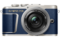 OLYMPUS PEN E-PL 9 Systemkamera 16.1 Megapixel mit Objektiv 14-42 mm f/3.5, 7,6 cm Display Touchscreen, WLAN