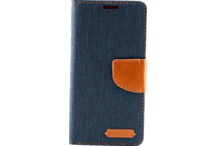 AGM 27223 , Bookcover, Samsung, Galaxy S9, Obermaterial Stoff, Marine Blau