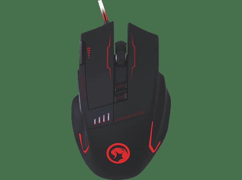 MARVO G909H Gaming Maus, schwarz mit 7 verschieden Farben