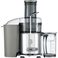 SAGE SJE410CRO4CEU1 The Nutri Juicer Entsafter 1200 Watt, Silber/Transparent
