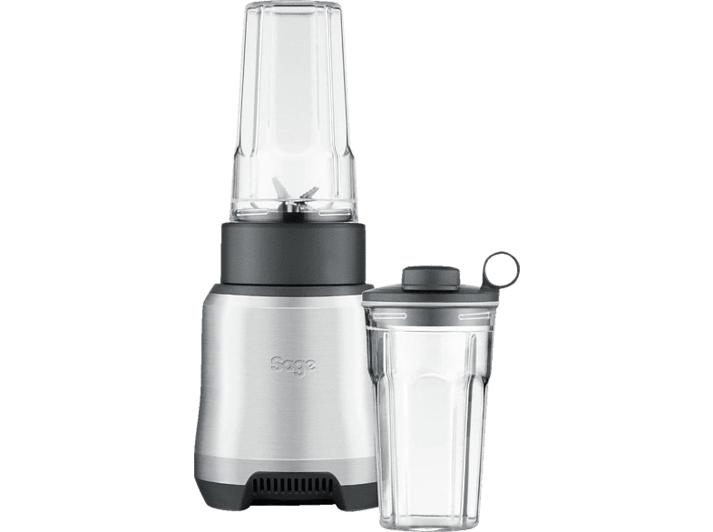 SAGE SPB550BAL2EEU1 The Boss to Go Standmixer Silber/Transparent (1000 Watt, 2x 0.5 l)