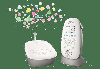 PHILIPS Babyphone SCD733/26 Avent mit Sternenhimmel-Projektion und bis zu 330m Reichweite