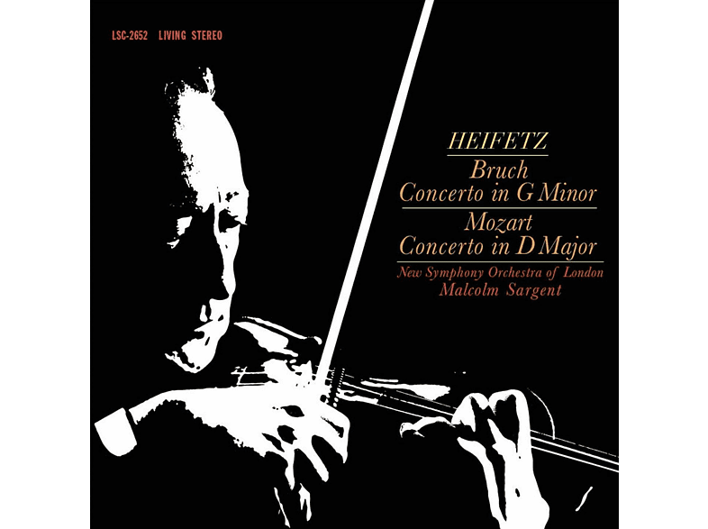 Jascha Heifetz, New Symphony Orchestra Of London - Bruch - Concerto In G Minor / Mozart - Concerto In D Major [Vinyl]