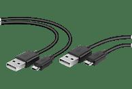 SPEEDLINK STREAM Play & Charge USB Kabel Set - für PS4, Zubehör für PS4, Schwarz