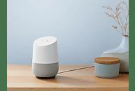 GOOGLE Home, Smart Speaker, Weiß/Schiefer