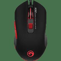 MARVO M302G 6-Tasten, Rainbow Backlight Gaming Maus, Schwarz mit Regenbogeneffekt, umlaufend