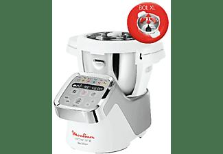 Robot de cocina - Moulinex COMPANION XL HF806, 3L, 12 programas, 1550W, 6 accesorios, Libro 300