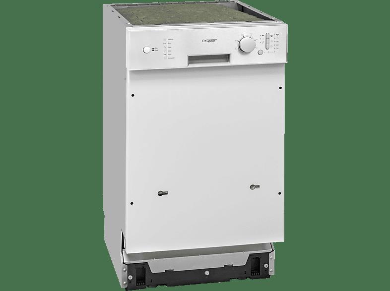 EXQUISIT EGSP 309-7E/B  Geschirrspüler (teilintegrierbar, 448 mm breit, 49 dB (A), A++)