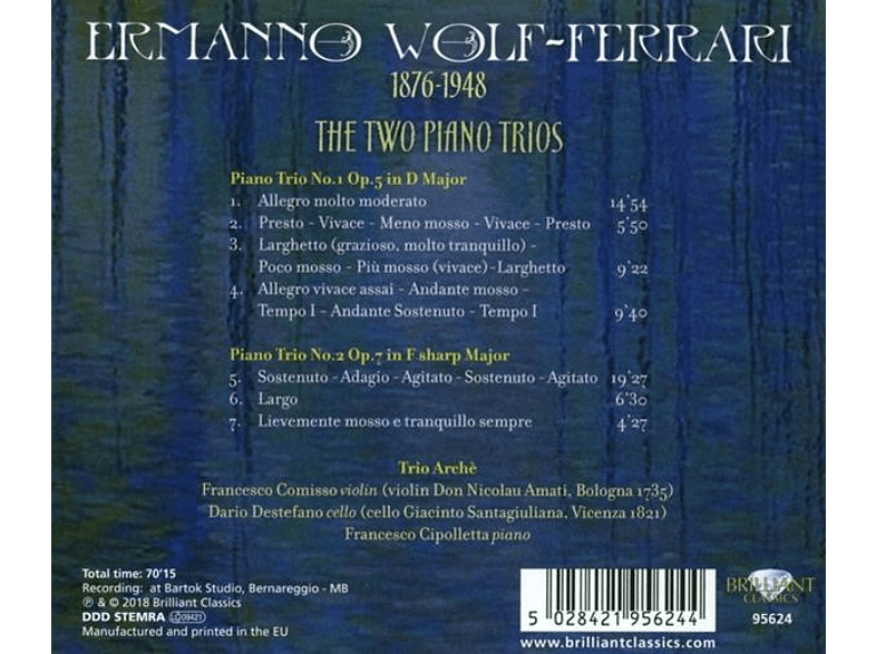 Trio Arche - The Two Piano Trios [CD]