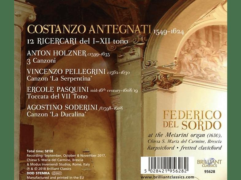 Federico Del Sordo - Antegnati:12 Ricercari [CD]
