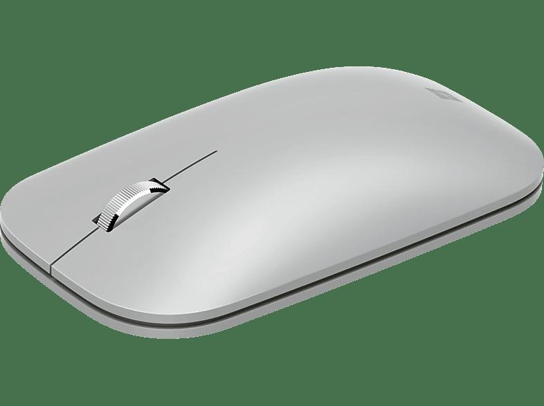 MICROSOFT Surface Mobile Mouse Maus, Platin Grau