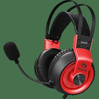 MARVO HG9035RD 7.1USB Wired Gaming Headset, rot Kopfhörer Schwarz/Rot