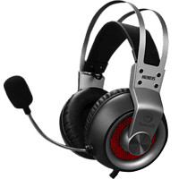 MARVO HG9035GY 7.1 USB Wired Gaming Headset, grau Kopfhörer Schwarz/Grau