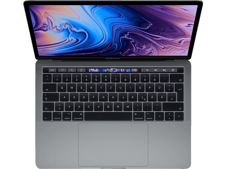 APPLE MacBook Pro MR9Q2D/A-139442 mit französischer Tastatur, Notebook mit 13.3 Zoll Display, Core i7 Prozessor, 512 GB SSD, Intel® Iris™ Plus-Grafik 655, Space Grau