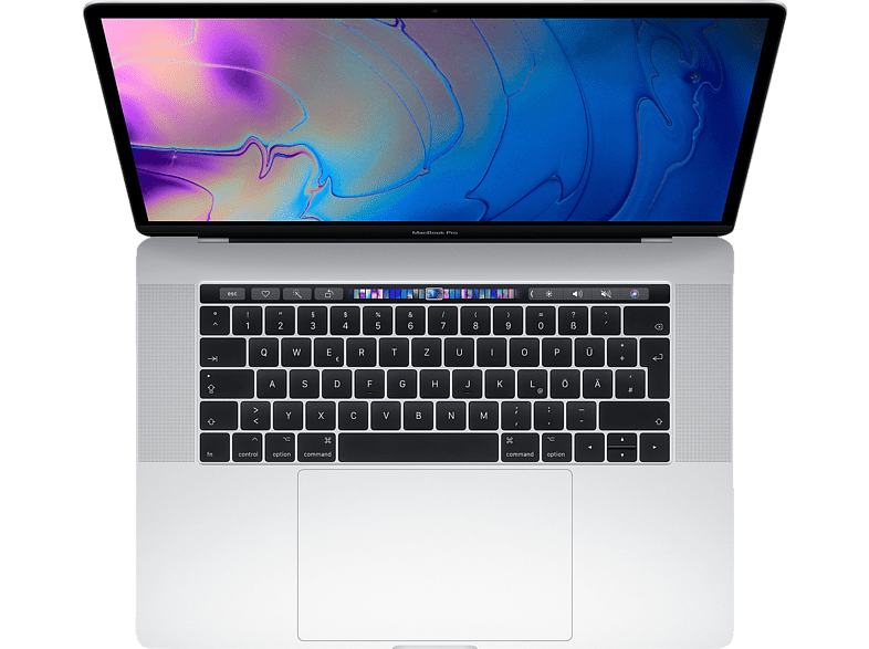APPLE MacBook Pro MR962D/A-139931 mit internationaler Tastatur, Notebook mit 15.4 Zoll Display, Core i7 Prozessor, 32 GB RAM, 2 TB SSD, Radeon™ Pro 560X, Silber