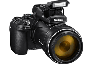 NIKON Coolpix P1000 Bridgekamera Schwarz, 125x opt. Zoom, TFT-LCD