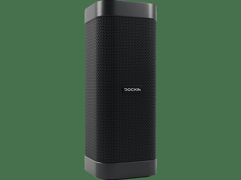 DOCKIN D Mate Bluetooth Lautsprecher, Schwarz, Wasserfest