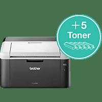 BROTHER HL-1212W + 5 Toner Elektrofotografie Laser Drucker WLAN Netzwerkfähig