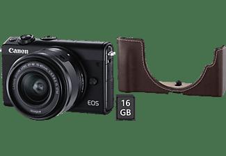 CANON EOS M100 Systemkamera mit Objektiv 15-45 mm, 7,5 cm Display Touchscreen, WLAN