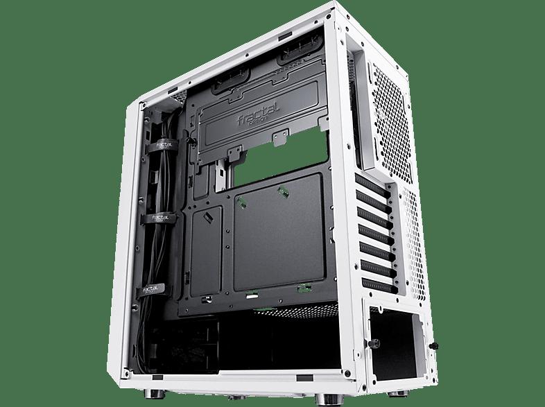 FRACTAL DESIGN Meshify C White TG PC-Gehäuse, Weiss, Front Schwarz