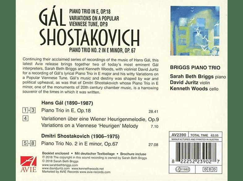 Briggs Piano Trio - PIANO TRIO & SHOSTAKOVICH PIANO TRIO 2 [CD]