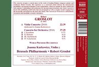 Groslot/Kurkowicz/Brussels Phi - Violinkonzert/Konzert für Orchester [CD]