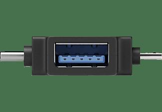 GOOBAY USB-A auf USB 2.0 Micro-B T-Adapter, Schwarz