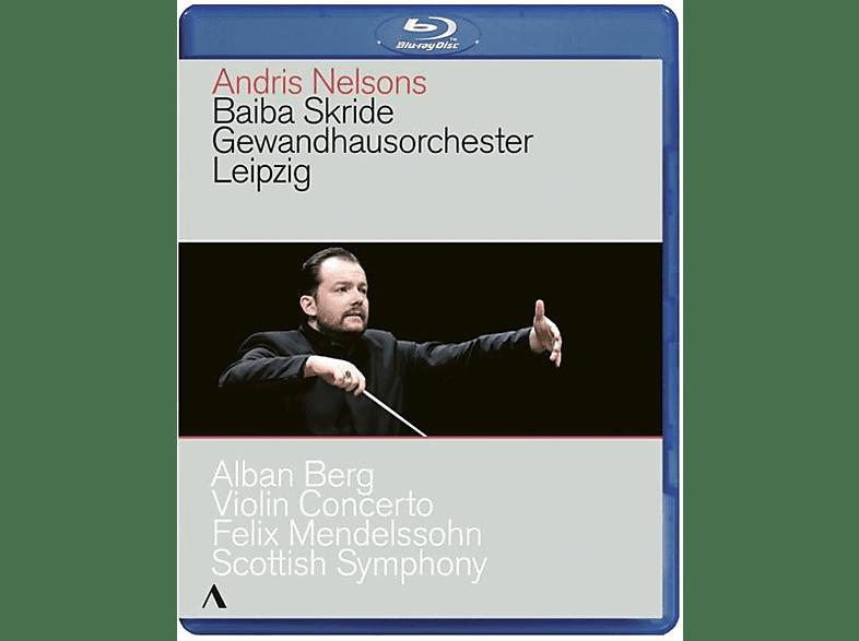 Skride,Baiba/Nelsons,Andris/Gewandhausorchester Le - Violin Concerto/Scottish Symph [Blu-ray]