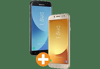 SAMSUNG Galaxy J7 (2017) Dual-SIM Doppelpack, schwarz + gold