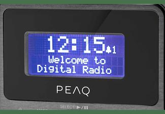 PEAQ PDR160BT-B Radio, DAB+, FM, DAB+, FM, Bluetooth, Schwarz/Grau