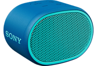 SONY Bluetooth Lautsprecher SRS-XB01, tragbar, kabellos, spritzwassergeschützt, blau