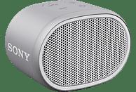 SONY Bluetooth Lautsprecher SRS-XB01, tragbar, kabellos, spritzwassergeschützt, weiß