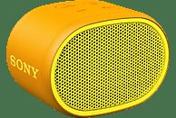 SONY Bluetooth Lautsprecher SRS-XB01, tragbar, kabellos, spritzwassergeschützt, gelb