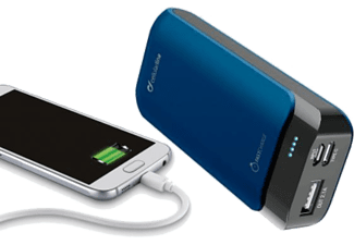 CELLULAR LINE Powerbank PowerUp 5200 mit USB-C-Port, blau