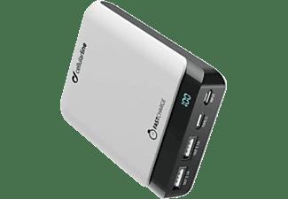 CELLULAR LINE Powerbank PowerUp 10000 mit doppeltem USB-Port und USB-C-Port, weiß