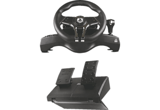 READY 2 GAMING PS5/PS4 HURRICANEWHEEL with Pedals, Sony licensed, Lenkrad und Fußpedale, Schwarz