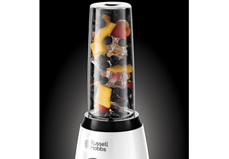 RUSSELL HOBBS 25161-56 Horizon Mix & Go Boost Smoothie Maker Weiß/Schwarz (400 Watt, 2x 0.6 Liter)