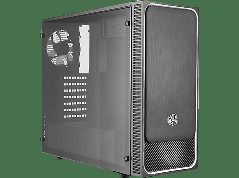 COOLER MASTER MasterBox E500L Silver Window PC-Gehäuse, Schwarz