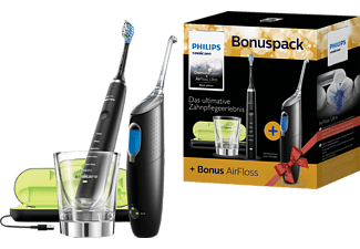 PHILIPS Sonicare Diamond Clean Elektrische Zahnbürste HX8492/03 + Airfloss Ultra Black Edition