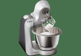 BOSCH MUM59S81DE Homeprofessional Küchenmaschine Schwarz/Silber (Rührschüsselkapazität: 3,9 Liter, 1000 Watt)