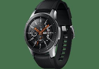 SAMSUNG Galaxy Watch 46 mm Bluetooth Smartwatch Edelstahl Silikon, S, L, Silber