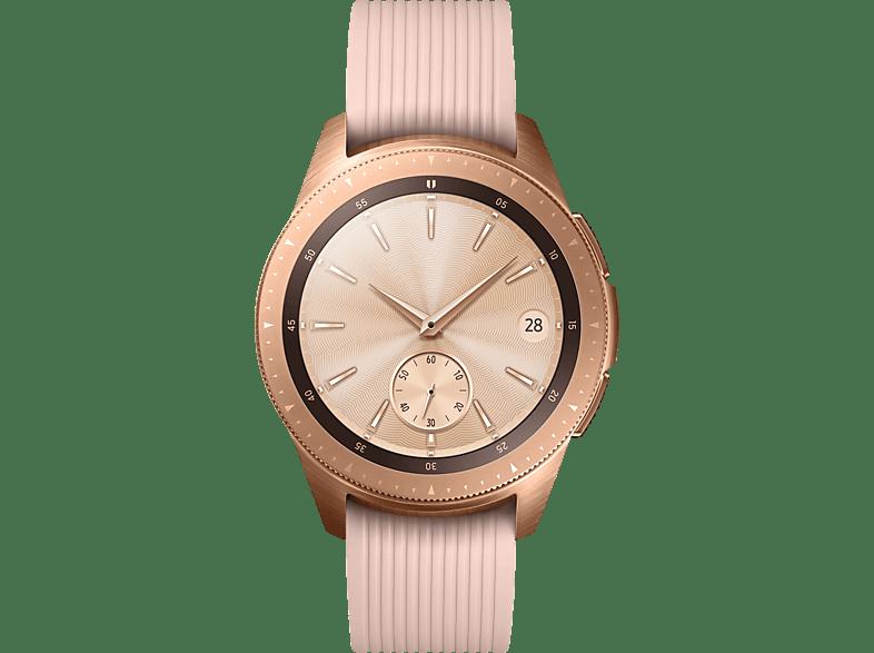 SAMSUNG  Galaxy Watch 42mm Bluetooth Smartwatch Edelstahl, Silikon, S, L, Roségold