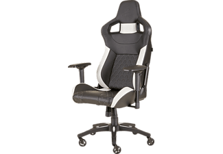 CORSAIR CF-9010012-WW T1-V2 RACE BLACK/WHITE Gaming Stuhl, Schwarz/Weiß