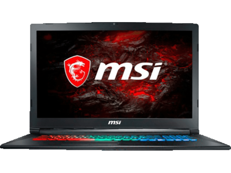 MSI GP72M 7RDX, Gaming Notebook mit 17.3 Zoll Display, Core™ i7 Prozessor, 16 GB RAM, 256 GB SSD, 1 TB HDD, GeForce® GTX 1050, Schwarz