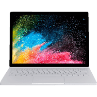 MICROSOFT Surface Book 2, Convertible mit 13,5 Zoll Display, Core™ i7 Prozessor, 8 GB RAM, 256 GB SSD, GeForce® GTX 1050, Silber