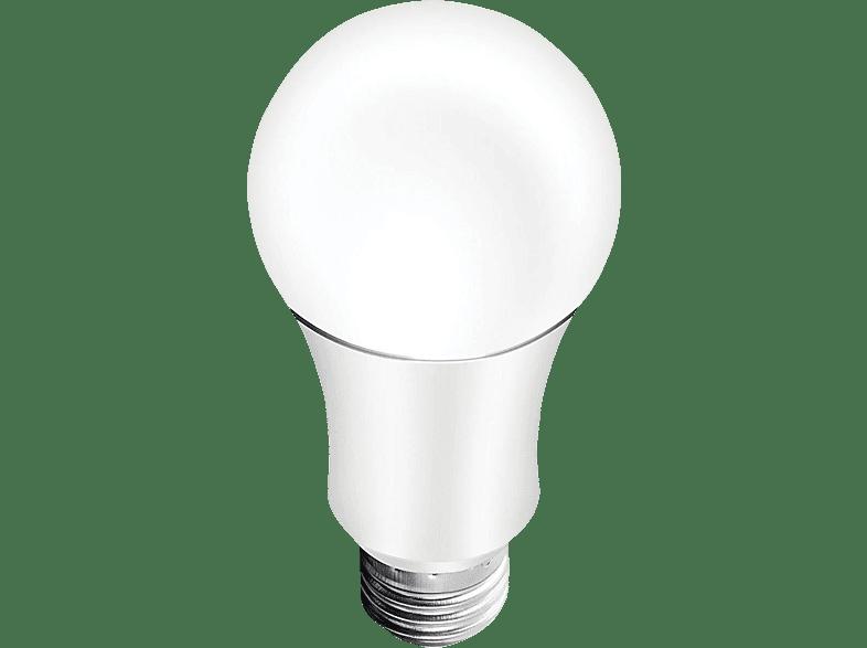 HAUPPAUGE Voice-Bulb WiFi-RGB-Lampe WiFi-Lampe, Weiß/Silber