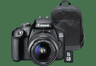 Cámara réflex - Canon EOS 4000D, Sensor APS-C, 18 MP, Full HD, Wi-Fi +  EF-S 18-55mm f/3.5-5-6 III