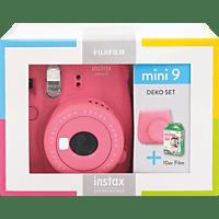 FUJIFILM Instax Mini 9 Travel Set Sofortbildkamera, Flamingo Pink