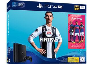 SONY Playstation 4 Pro 1TB Jet Black / EA Sports Fifa 19-Bundle
